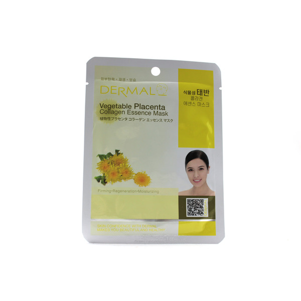 Маска Дермал (Dermal) Collagen Essence Vegetable Placenta